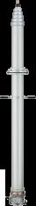電波測定用伸縮ポールシステムの製品写真