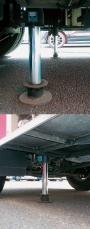 車体安定ジャッキシステムの使用例