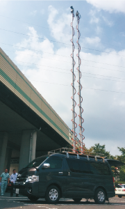 橋梁トンネル点検用/伸縮ポール/ユアサ工機