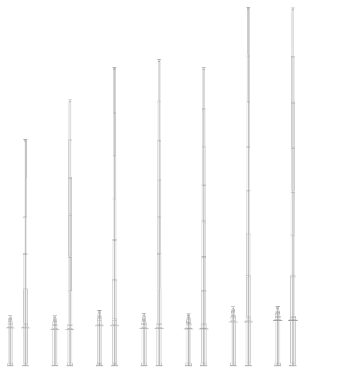 汎用伸縮ポールシステム[5m以上]仕様/ユアサ工機