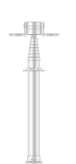 中継車用伸縮ポールシステム仕様/ユアサ工機