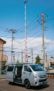 電波測定用伸縮ポールシステム/ユアサ工機