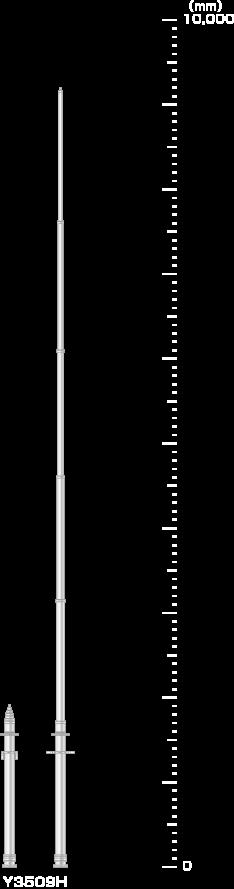 電波測定用伸縮ポールシステム仕様/ユアサ工機