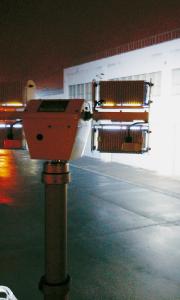 ハイロライト照射 実用例/伸縮ポール/ユアサ工機