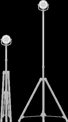 3脚型LED照明ポール/伸縮ポール/ユアサ工機