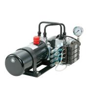4連バルブ付油圧ユニット/伸縮ポール/ユアサ工機