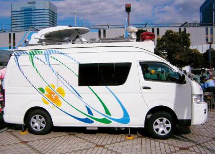 衛星通信車用/伸縮ポール/ユアサ工機