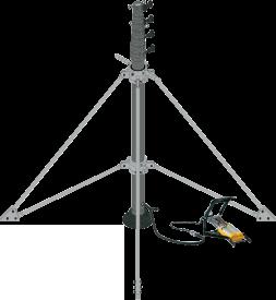 4脚スタンド使用/伸縮ポール/ユアサ工機